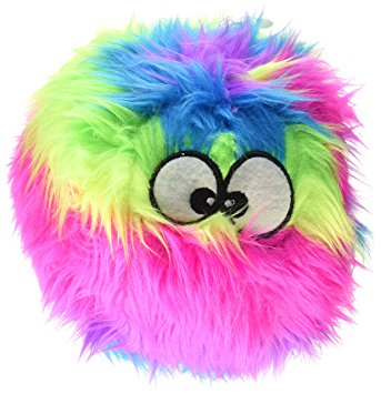 goDog Furballz Purple Small Plush Dog Toy