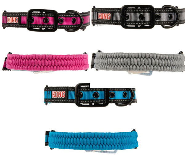 Kong Paracord Reflective Dog Collar Colors