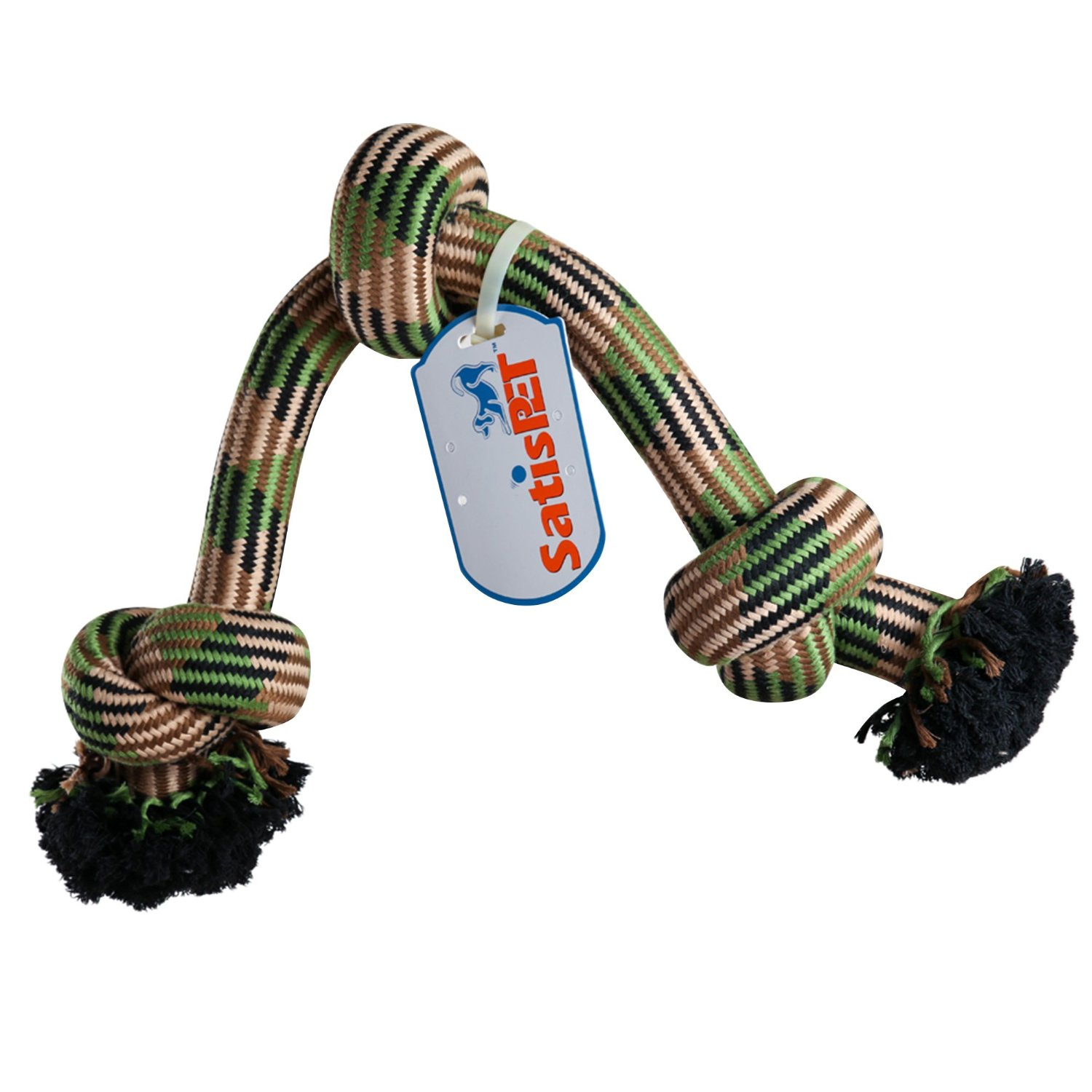 SatisPet Indestructible Jumbo Dog Rope Toy